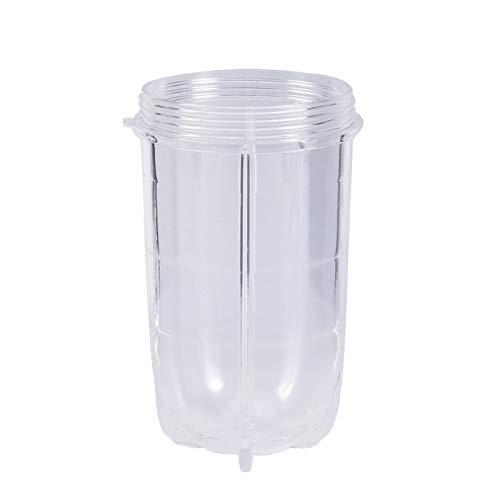 Oubit Vaso Alto y Corto de plástico Vaso Transparente Alto o Corto Taza Licuadora Exprimidor Piezas de Repuesto Accesorios(Long Cup with Ear)