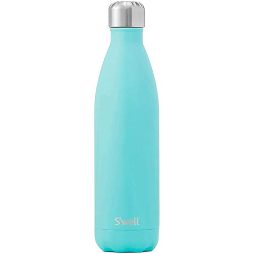 S'well Stainless Steel Bottle-17 Fl Oz-Turquoise Blue Triple-Layered...