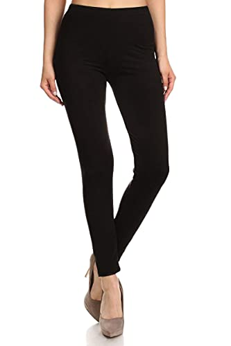 FUNGO Leggings Mujer Largo Deportivas Leggins Yoga Pantalones Para Mujer (42, Negro)