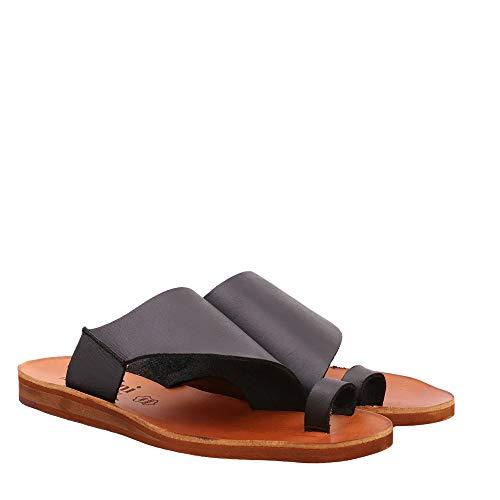 Felmini - Zapatos para Mujer - Enamorarse com CAROLINA2 C288 - Mules - Cuero Genuino - Negro - 36 EU Size