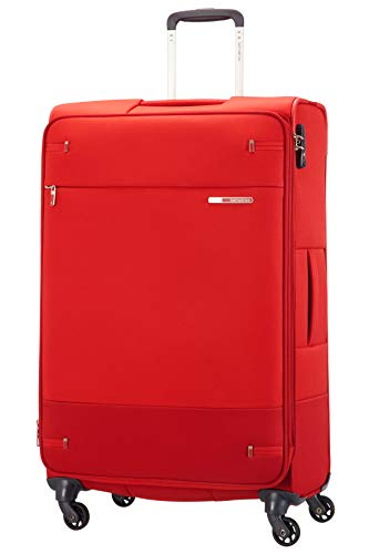 Samsonite Base Boost - Spinner L Erweiterbar Koffer, 78 cm, 105/112.5 L, Rot (Red)