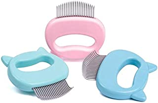 Leo's Paw The Original Pet Hair Removal Massaging Shell Comb Soft Deshedding Brush Grooming and Shedding Matted Fur Remover Dematting tool for Long and Short Hair Cat Dog Puppy Bunny (Mint)