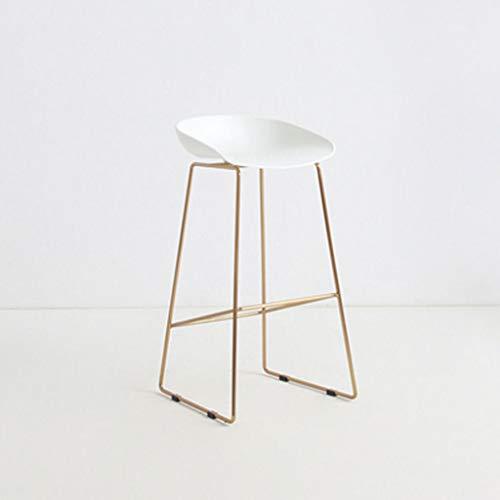 ☀ JBD Moderne Simple Chaise De Bar Fer Art Tabouret sur Pied Design Créateur Comptoir Siège Café Restaurant Restaurant (Couleur : H)
