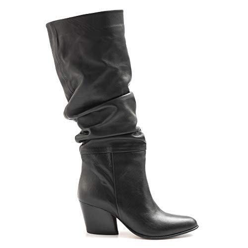 SANGIORGIO 6347 laarzen van zacht leer, met hak, zwart, maat