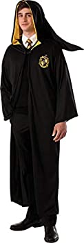Rubie s Men s Harry Potter Deathly Hollows Hufflepuff Adult Costume Robe Black One Size