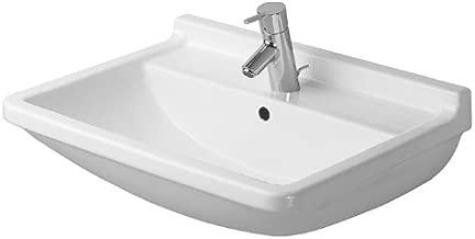 Duravit 0300650000 Starck 3 Single-Hole Lavatory Wash Basin, White finish