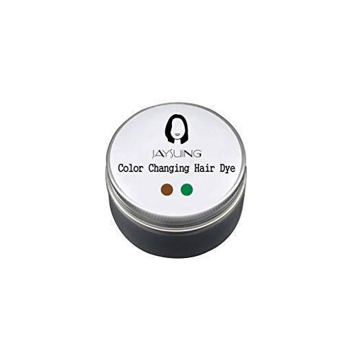 Serria® 100g temperatur veränderndes Farbwechsel Haarfärbemittel temporäre Farbstoff ändert Haar Farbe 18 ° C sofort ändert p-Phenylendiamin Wasserstoffperoxid Haarfärbecreme (D-Braun-Grün)