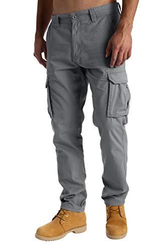 West Ace - Pantalones de trabajo de combate para hombre (100 % algodón)