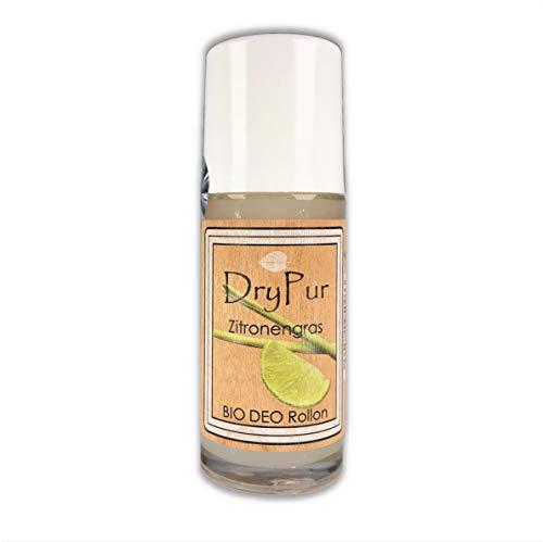 DryPur • BIO DEO Rollon • Zitronengras • ohne Aluminium, Alkohol oder künstliche Zusätze • Naturkosmetik Deodorant im Deo Roller • vegan • ohne Parabene und Silikone