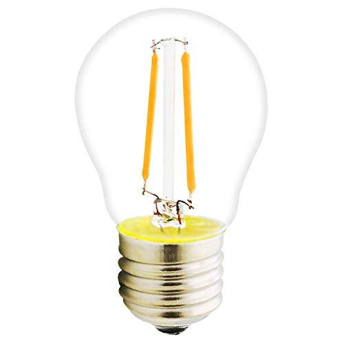 Leika - Bombilla LED de filamento G45, bombilla E27, 2 W, 180 lúmenes, sustituye a la bombilla incandescente de 20 W, sin graduación, blanco cálido 2700 K, cristal claro
