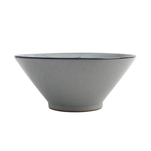 YWYW Cuenco de cerámica Ramen de 8/9 'Ramen Bowl pintado a mano vajilla de cerámica japonesa para Udon Pasta Pho Soba Cereal y ensalada gris 9'