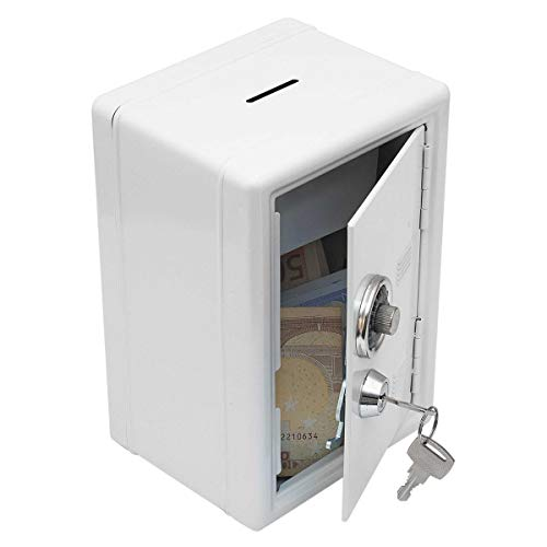 GOODS+GADGETS Spardose Mini-Tresor Safe Sparschwein Sparbüchse Geldkassette mit Zahlenschloss (weiß)