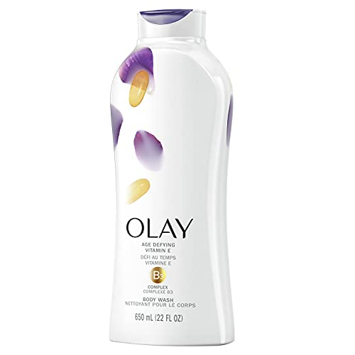 Olay Age Defying Body Wash with Vitamin E & B3 Complex, 22 Fl Oz (Pack of 4)