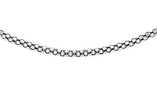 Tuscany Silver Damen Sterling Silber Popcorn Halskette 1.4mm 51cm/20zoll