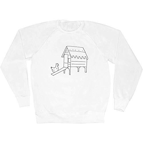 Azeeda Moyen 'Poulailler' Sweat-Shirt / Pull Unisexe...