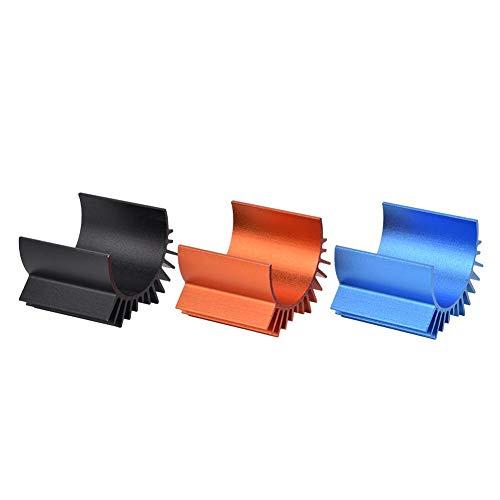 Keenso 3-teilige Autolüfter, effizienter Kühlkörper für RC-Motorlüfter aus Metall für 540/550 Motor des RC-Modellautos