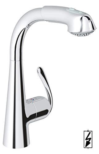 Grohe Zedra Küchenarmatur, Komfort-Spülbrause, Niederdruck für offene Warmwasserbereiter, 32555000