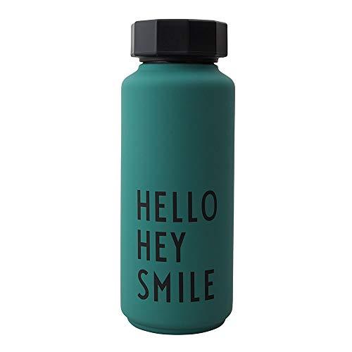 Design Letters Trinkflasche/Isolier Flasche (Dunkel grün) 500 ml.