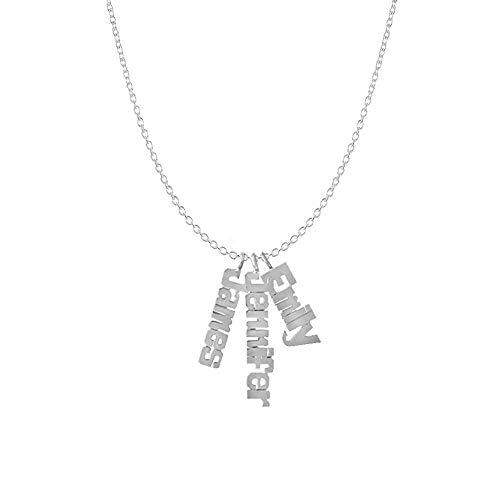 Gaosh Collar Nombre Plata Ley 925 - Collar Mujer 3