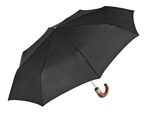 CHR Paraguas Plegable, Repelente al Agua, Color Negro