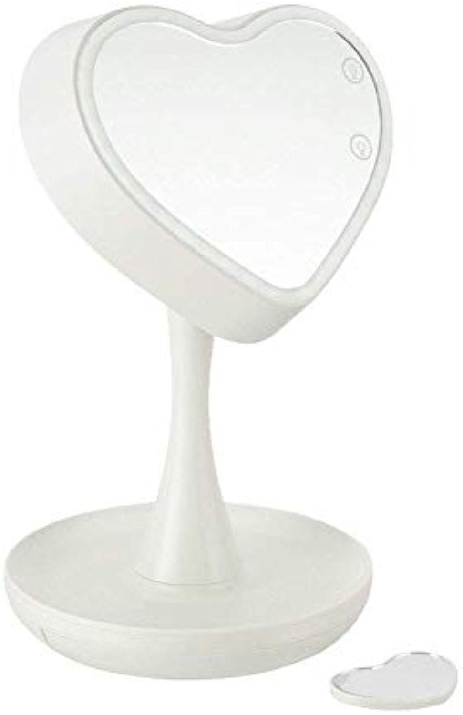Gesichtsspiegel, Schminkspiegel, USB-Aufladungsspiegel, Touchscreen-Lampe Schminktischspiegel, verstellbare Helligkeit kann als Schreibtischlampe verwendet werden, mit sieben Lichtern zur Auswahl