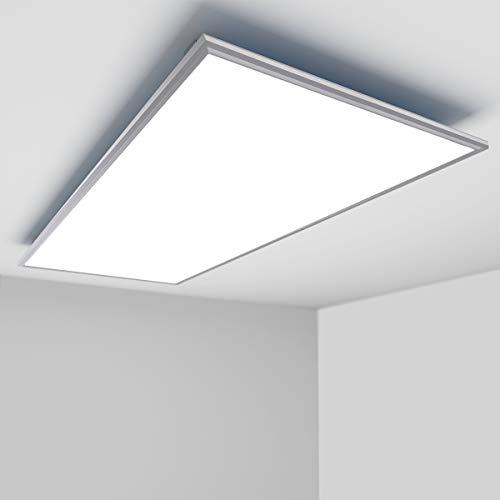 [Premium 125lm/W]OUBO LED Panel 120x60cm Deckenleuchte Slim 72W 9000 Lumen Neutralweiss 4000K, Einbauleuchten Set 230V, Deckenleuchte Wandleuchte, inkl. Trafo und Anbauwinkel