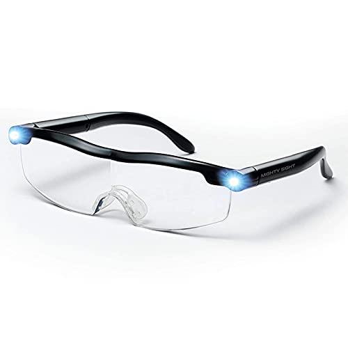 Gafas de Lectura con luz LED, ampliación de Alta definición, amplias Gafas de visión de Zoom, Unisex, Adecuado para lectores, Artesanos y proyectos de Bricolaje