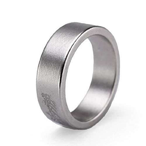 tJexePYK Magnetische Finger-Ring-Magnet Münze Finger Zauberer Trick Props Anzeigen Dekoratives Muster,Magnetring Für Einen Mann Eine Frau 18mm Farbe Silber