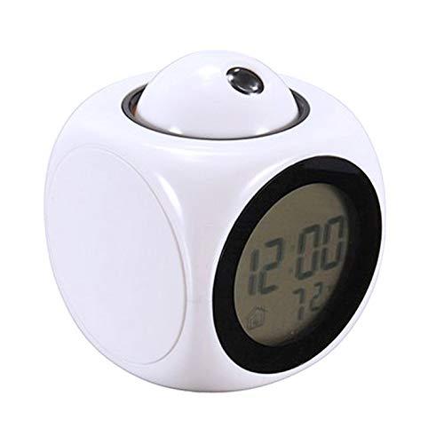 Multifunktionale Projektionsbericht Uhr LED Lampe Projektionswecker Sprachbericht Uhr Projektionsuhr
