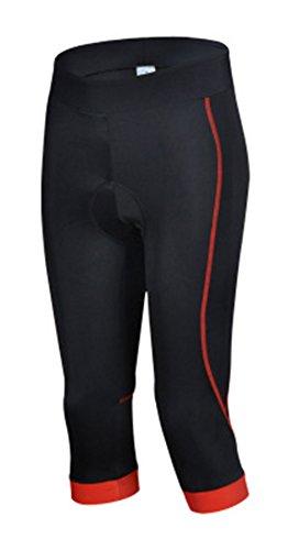SEAOEEY Medias de compresión de ciclismo 3/4 acolchadas para mujer y pantalones deportivos largos