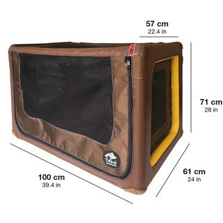TAMI Backseat Box Backseat L- Auto & Home Hundebox aufblasbar mit Airbagfunktion