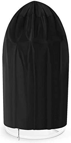 ZJBJ Cubierta de Silla Colgante de Mimbre Premium, Swing en Forma de Huevo, 42'Dia X 79' H, Impermeable al Aire Libre
