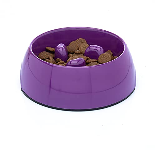 DDOXX Fressnapf Antischlingnapf, rutschfest   viele Farben & Größen   für kleine & große Hunde   Futter-Napf Katze   Hunde-Napf Hund   Katzen-Napf   Melamin-Napf   Lila Violett, 300 ml