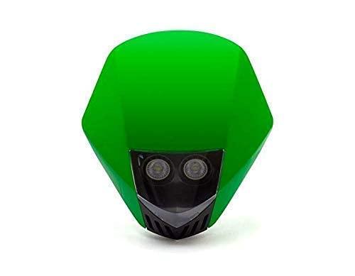 VERT Moto Phare Masque - LED 12V 35W - Projet Streetfighter Supermoto