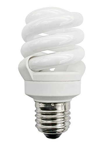 Bright Full Spectrum ahorro de energía Natural luz fría (6500K) de bajo consumo 11W = 55W (Was 60W) rosca Edison ES e27good para triste (de temporada afectados trastorno) Compact trenzado Spiral Bombilla
