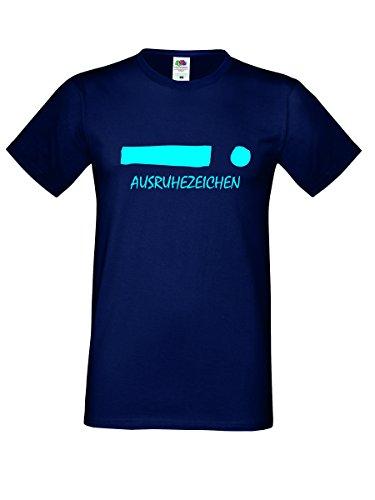 Herren Shirt mit Spruch- AUSRUHEZEICHEN- Lustige Sprüche Männershirt Open Air Konzert Festival
