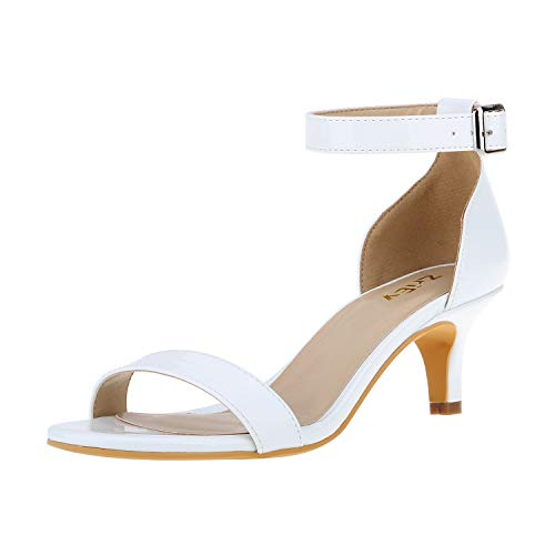 ZriEy Women Sexy Open Toe Ankle Straps Low Heel Sandals Crocodile Grain Copper Size 8.5/39 M EU