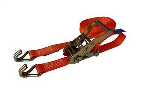LoadLok 14002637 Spanband met ratelgesp en haken - Oranje - 5m x 25mm