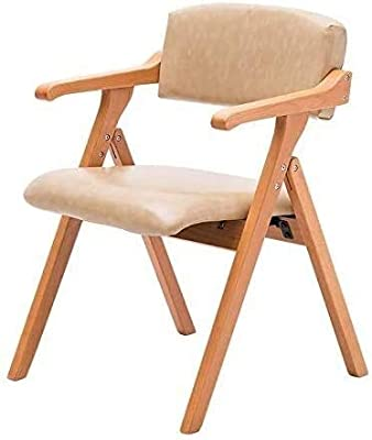 Hao Shuo new furniture modern dining Hao Shuo Fashion New Furniture Modern Dining Chair Family Kitchen Chair Solid Wood Chair Pu Upholstered Folding Chair Solid Wood Chair With Backrest Armrest Dining