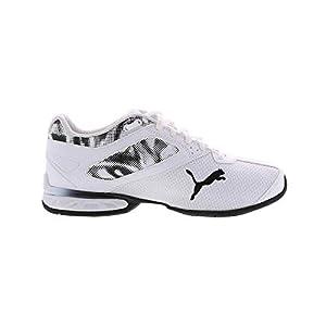 PUMA mens Tazon 6 Running Shoe, White/Black, 10 US