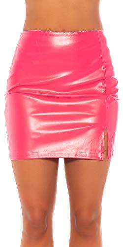 Koucla Falda con aspecto de piel sintética.