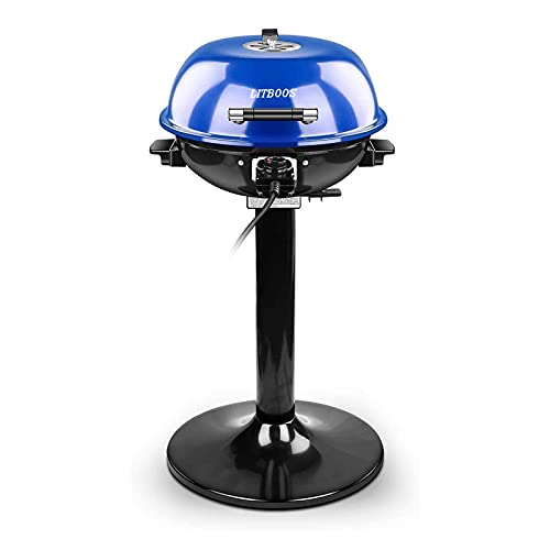 LITBOOS 15-Serving Electric Grill Indoor/Outdoor BBQ Grill, Portable Removable Stand Grill 1600W...