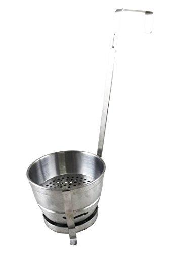 Aladin B300 Kohlebehälter Edelstahl - mit Luftschlitzen und Aschefänger