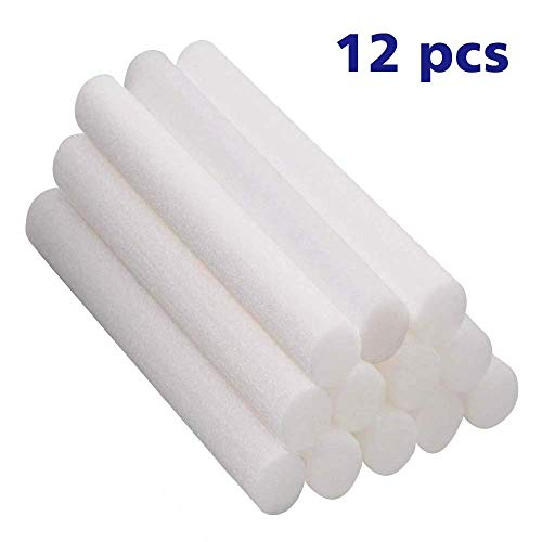 Humidifier Cotton Core Humidifier Sticks Cotton Filter Sticks Refill Sticks Filter Replacement Wicks for Portable Personal USB Powered Humidifiers in Car, Office & Bedroom 0.3X5.3 Inches (12pcs)