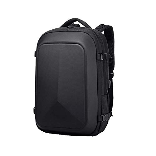 Mochila, bandolera de tela Oxford, mochila para computadora de negocios USB, bolsa de viaje impermeable de gran capacidad, adecuada para hombres-3