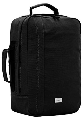 FORVERT Cole,Unisex,Damen,Herren,Daypack,Rucksack mit 15 Zoll Laptopfach,verstärkten Boden,gepolsterter Rücken und Trageriemen,Black,one Size