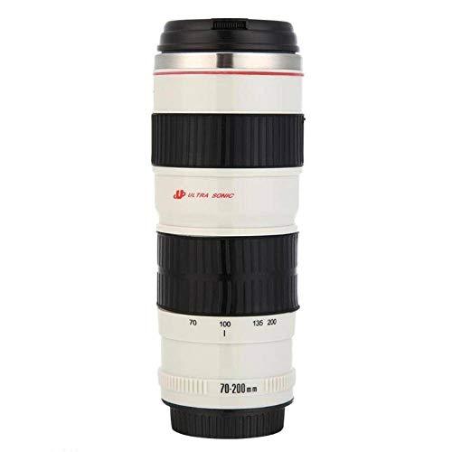 N-B 400 ml Premium Reise-Kaffeetasse, Kamera-Objektiv-Form, Edelstahl, Wasserbecher, Thermobecher, Kaffee-/Teetasse mit Deckel