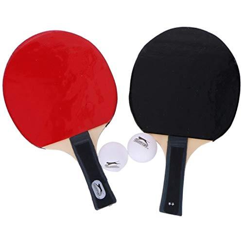 OnDaS TischtennisSet 5tlg Tischtennisschläger 2 Schläger + 2 Bälle +Tasche Slazenger