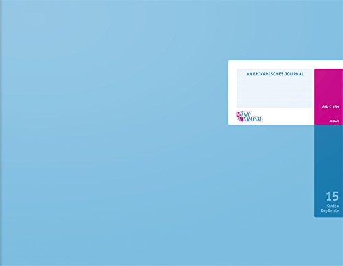 König & Ebhardt 8617159-8315K48KL Amerikanische Journale (420 x 332 mm, 48 Blatt) hellblau