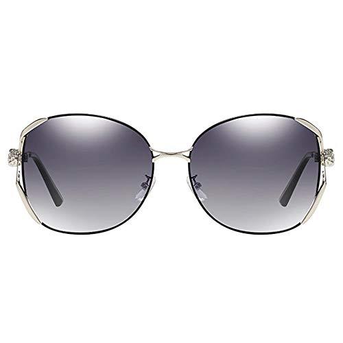 DKee Gafas de sol polarizadas de metal, antirayos UV, antirreflejos, estilo informal, UV400, color negro y morado